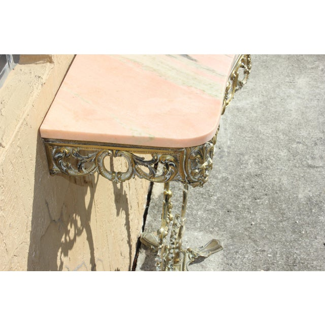 1900s French Louis XVI Bronze Console Table For Sale In Miami - Image 6 of 13