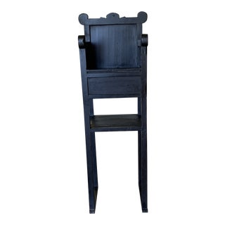 Vintage Black Painted High Chair For Sale