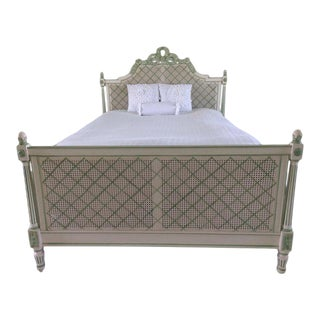 Julia Gray Queen Cane Bed