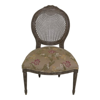 Wesley Hall Cane Back French Style Side Chair For Sale