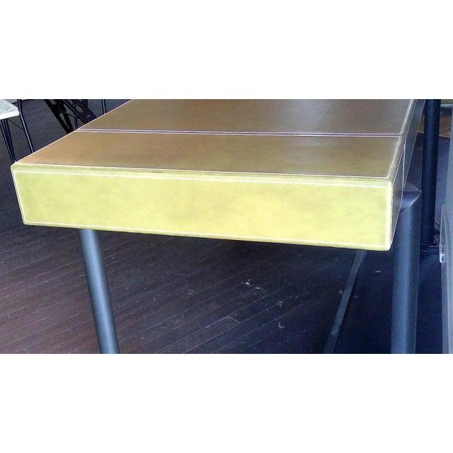 Italian Modern Promemoria Leather Writing Desk For Sale - Image 3 of 5