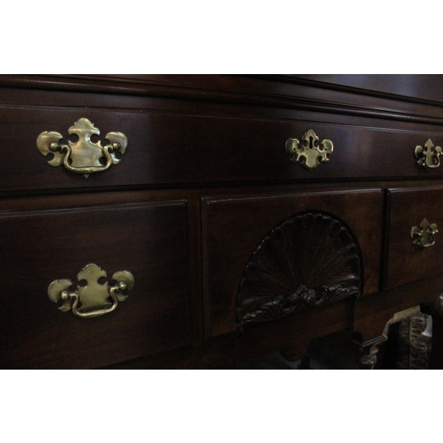 Queen Anne Late 20th Century Queen Anne Style Cherry Highboy For Sale - Image 3 of 10