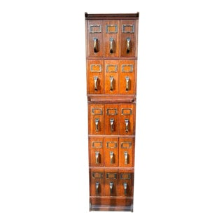 Stacking Document Cabinet - 5 Piece Set For Sale
