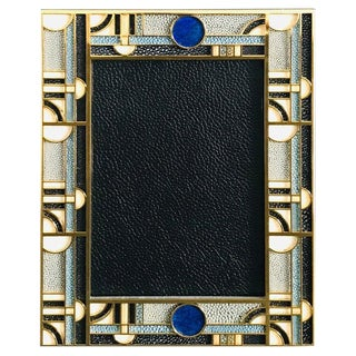 Multi-Color Shagreen Gold-Plated Photo Frame by Fabio Ltd For Sale