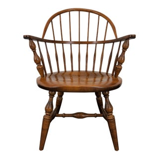 Heywood Wakefield Cinnamon Windsor Armchair For Sale