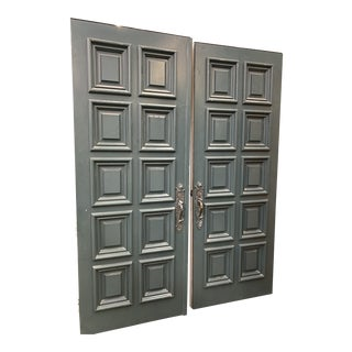 Spanish Colonial Style Front Double Doors - a Pair For Sale