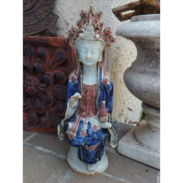 Chinese Porcelain Quan Yin Statue - Image 3 of 6