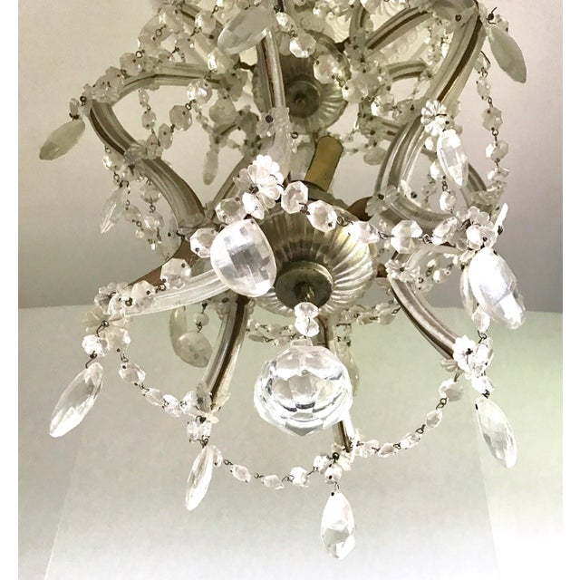 Italian Maria Theresa Crystal Chandelier Made in Italy For Sale - Image 3 of 8