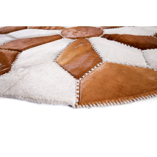 """Cowhide Patchwork Area Rug - 5'9"""" x 5'9"""" - Image 6 of 10"""