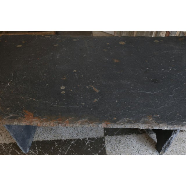 Gray Long Slate Center Table For Sale - Image 8 of 10
