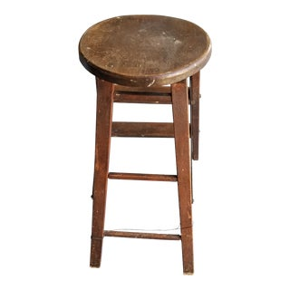 1900s Antique JRC Folding Stool For Sale