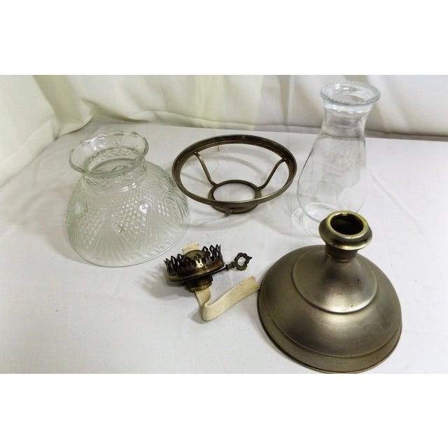 Vintage Kaadan Ltd. Wheatland Oil Lamp For Sale - Image 5 of 7