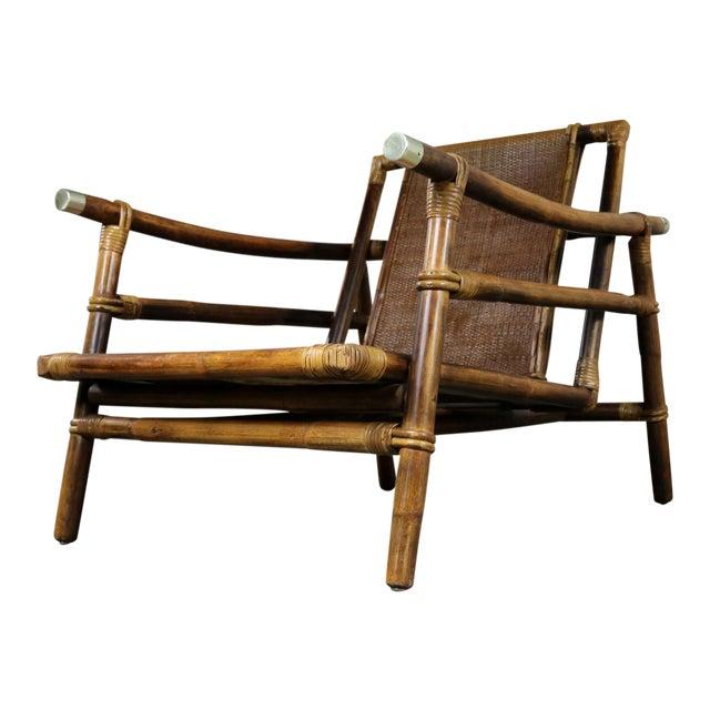 John Wisner for Ficks Reed Rattan Lounge Chair For Sale