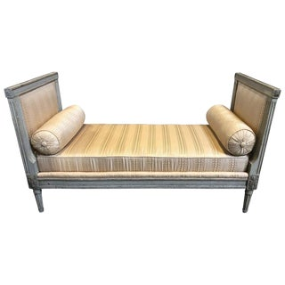 Late 19th Century French Grey Painted Daybed For Sale