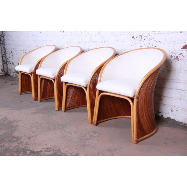 Henry Olko Mid-Century Bamboo Dining Set, Circa 1978 For Sale - Image 9 of 13