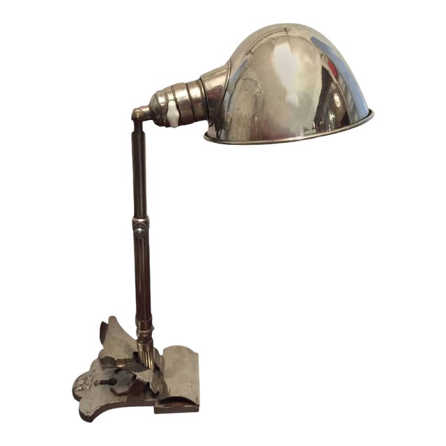 Art Deco Clamping Lamp by HALA - Hannoversche Lampenfabrik, 1920s For Sale