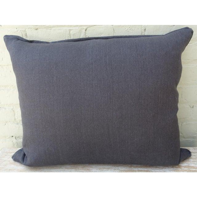 Large Rectangular African Kuba Cloth Pillow For Sale - Image 9 of 9