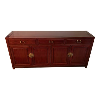 Chinese Chippendale Rosewood Credenza For Sale