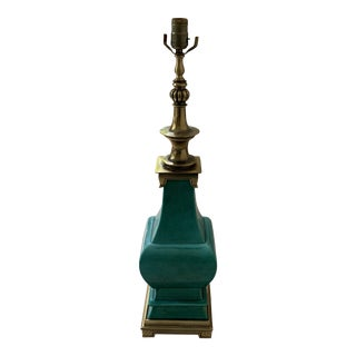 Stiffel Emerald Green Porcelain Lamp For Sale