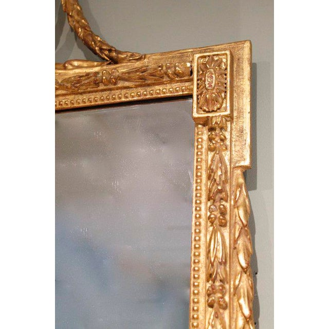 Large Italian Neoclassical Gilt Wood Mirror For Sale - Image 10 of 11
