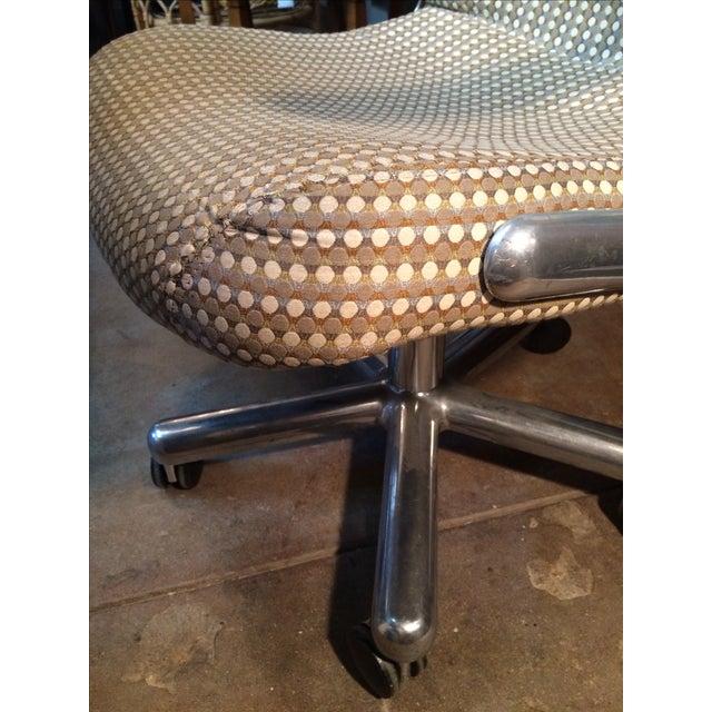 Mid-Century Aluminum Swivel Office Chair - Image 9 of 9