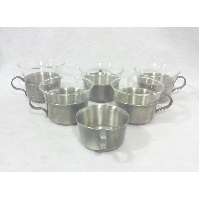 Pewter Gallery Tray & Cups - Set of 7 - Image 5 of 5