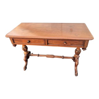 19th Century Victorian Mahogany English Washtand/Console Table For Sale