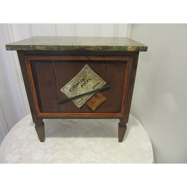 Hickory Furniture Trompe l'Oeil Mid Century 1970's Hickory Chair Collector's MIX Miniature Chest For Sale - Image 4 of 12