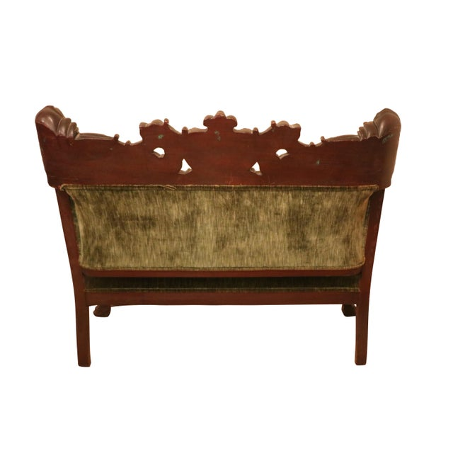 Karpen & Bros. Antique Late 19th. C Karpen Settee & Side Chairs - the Maiden Suite Set of 3 For Sale - Image 4 of 9