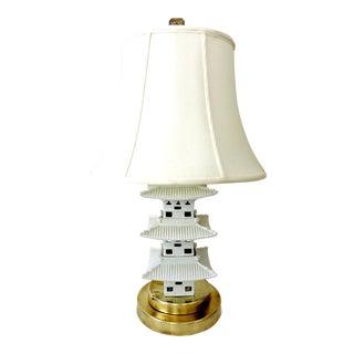Blanc De Chine Oriental Pagoda Table Lamp