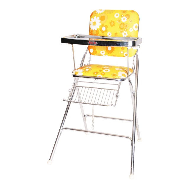 Mid Century Modern 70s Chrome High Chair by Taylor Tot For Sale