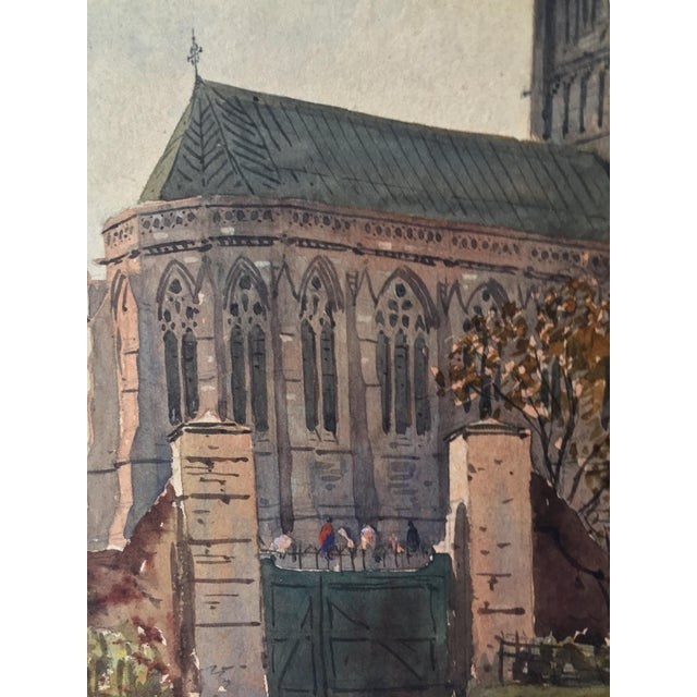 English Church Watercolor Painting by Axel Haig For Sale In New York - Image 6 of 8