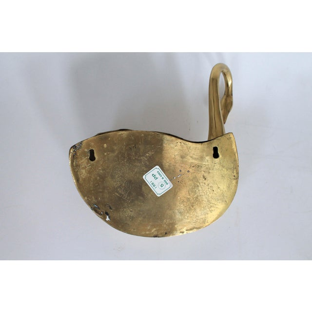 Brass Swan Wall Pocket Planter For Sale In Milwaukee - Image 6 of 8