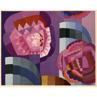 Geometric Roses by Edouard Benedictus Print on Paper For Sale