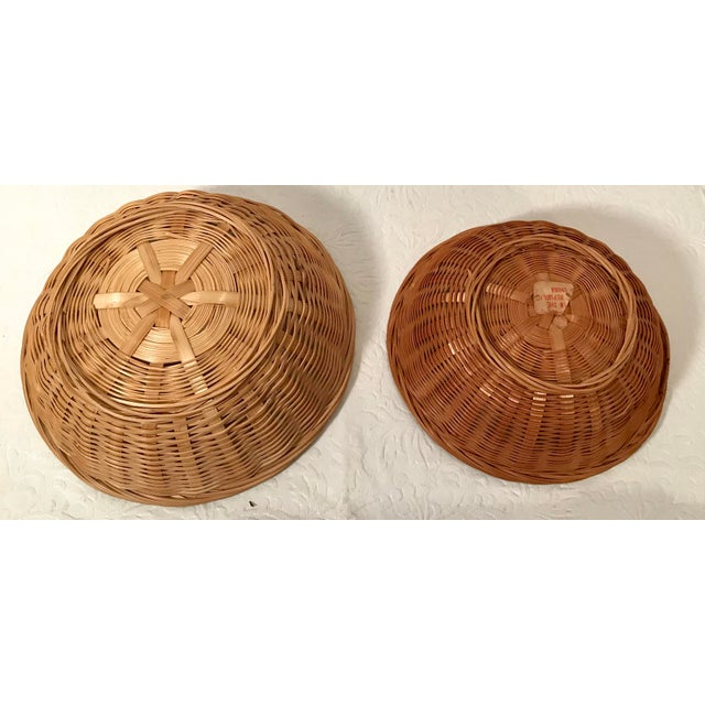 Vintage Nesting Baskets - a Pair For Sale - Image 4 of 6