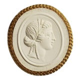 Image of 19th Century Gilt Grand Tour Plaster Intaglio Tassie Seal With Proserpina Bust For Sale