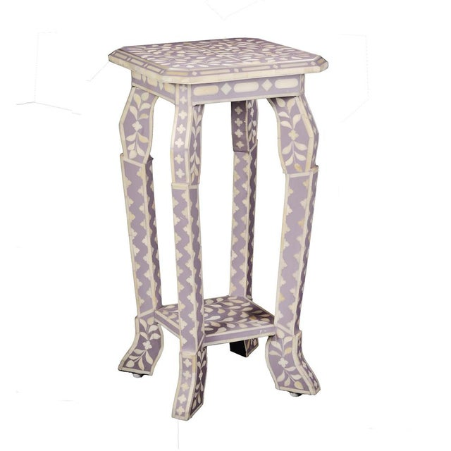 2020s Imperial Beauty Telephone Table in Lilac/White For Sale - Image 5 of 5