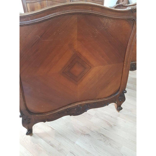 19th Century Italian Louis XV Rococò Style Wood Carved Bedroom Set For Sale - Image 4 of 13