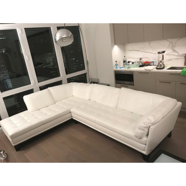 The Benefits Of Having A White Leather Sectional: Roche Bobois Rivage White Leather Sectional Sofa