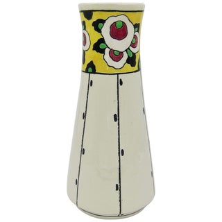Boch Freres La Louvière Hand Painted Art Deco Vase For Sale