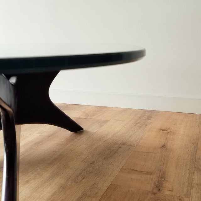 1960s Adrian Pearsall Model 1465-T Boomerang Walnut Coffee Table, Unmarked For Sale - Image 12 of 13