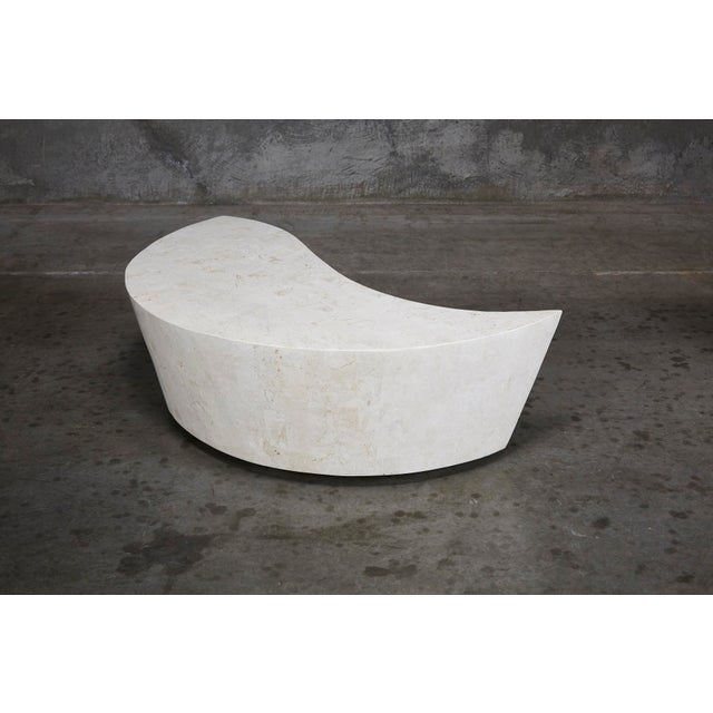"1990s Contemporary White Freeform Tessellated Stone ""Hampton"" Coffee Table For Sale - Image 12 of 13"