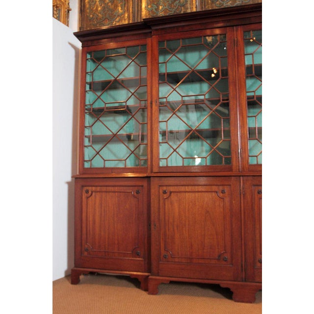 Late 18th Century George III Mahogany Breakfront For Sale - Image 4 of 13