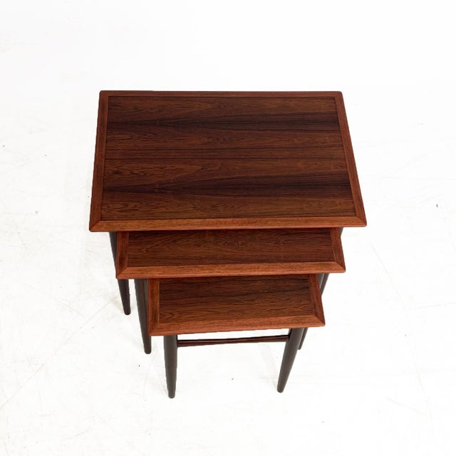 Vintage Danish Rosewood Nesting Tables For Sale In Seattle - Image 6 of 7