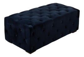 Image of Newly Made Velvet Ottomans