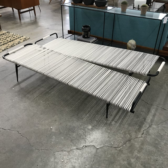 Newly Refinished Rare Chaise Lounge by Mallin For Sale - Image 12 of 13