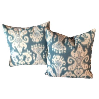 "Kravet Ikat 20"" Pillows - Pair"
