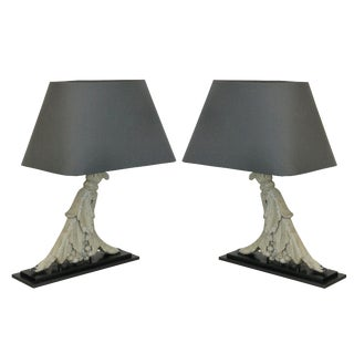 A Pair of Architectural Lamps For Sale