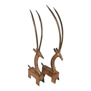 Moderne Ram Figures - A Pair