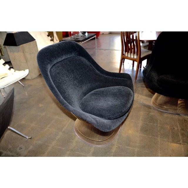 Warren Platner 3 Warren Platner for Knoll Easy Chairs 18-Karat Gold-Plated For Sale - Image 4 of 13